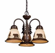 Vaxcel LK55716BBZ-C Bozeman Rustic Burnished Bronze Finish 15.5  Wide Fan Light