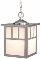 Vaxcel OD14676ST Mission Craftsman Stainless Steel Finish 7  Wide Outdoor Mini Lighting Pendant
