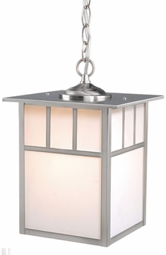 Vaxcel OD14696ST Mission Craftsman Stainless Steel Finish 13 Tall Exterior Mini Pendant Lamp