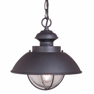 Vaxcel OD21506TB Harwich Nautical Textured Black Finish 10.75  Tall Exterior Mini Hanging Light