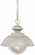 Vaxcel OD21518BN Harwich Nautical Brushed Nickel Finish 10  Wide Outdoor Mini Pendant Light Fixture