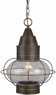 Vaxcel OD21836BBZ Chatham Nautical Burnished Bronze Finish 17.5  Tall Exterior Pendant Lighting Fixture