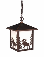 Vaxcel OD36986BBZ Yellowstone Burnished Bronze Finish 11 Tall Outdoor Pendant Lamp