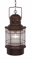 Vaxcel OD37006BBZ Hyannis Retro Burnished Bronze Finish 10  Wide Outdoor Mini Pendant Hanging Light