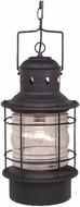 Vaxcel OD37006TB Hyannis Vintage Textured Black Finish 21.88  Tall Exterior Mini Hanging Light Fixture