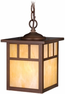 Vaxcel OD37276BBZ Mission Craftsman Burnished Bronze Finish 7  Wide Outdoor Mini Drop Lighting