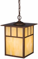 Vaxcel OD37296BBZ Mission Craftsman Burnished Bronze Finish 13  Tall Exterior Mini Drop Ceiling Lighting
