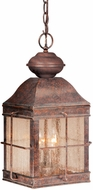 Vaxcel OD39596RBZ Revere Traditional Royal Bronze Finish 9.5  Wide Outdoor Mini Drop Ceiling Light Fixture
