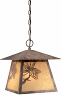 Vaxcel OD50546OA Whitebark Craftsman Olde World Patina Finish 11  Wide Outdoor Mini Pendant Lighting
