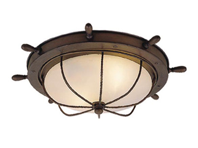 Vaxcel Of25515rc Orleans Nautical Antique Red Copper Finish 15 Nbsp Wide Exterior Flush Mount Lighting Fixture Loading Zoom