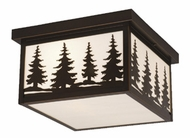 Vaxcel OF33412BBZ Yosemite Burnished Bronze Finish 6.5 Tall Outdoor Flush Ceiling Light Fixture