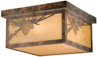 Vaxcel OF50511OA Whitebark Craftsman Olde World Patina Finish 11.5  Wide Outdoor Flush Mount Lighting
