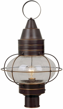 Vaxcel OP21835BBZ Chatham Nautical Burnished Bronze Finish 22.5 Tall Exterior Post Lamp