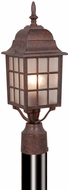 Vaxcel OP36765RBZ Vista Craftsman Royal Bronze Finish 6  Wide Outdoor Lighting Post Light