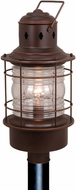 Vaxcel OP37005BBZ Hyannis Retro Burnished Bronze Finish 10  Wide Outdoor Post Lighting Fixture