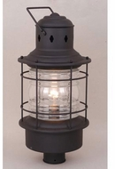 Vaxcel OP37005TB Hyannis Vintage Textured Black Finish 23  Tall Exterior Lamp Post Light Fixture