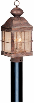 Vaxcel OP39595RBZ Revere Traditional Royal Bronze Finish 9.75 Wide Outdoor Post Lighting