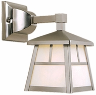 Vaxcel OW14663ST Mission Craftsman Stainless Steel Finish 7.5 Wide Outdoor Wall Light Sconce