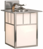 Vaxcel OW14693ST Mission Craftsman Stainless Steel Finish 11.5 Wide Outdoor Wall Sconce