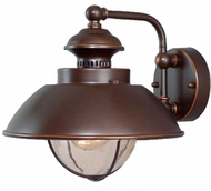 Vaxcel OW21501BBZ Harwich Nautical Burnished Bronze Finish 10.25 Tall Exterior Wall Lamp