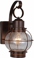 Vaxcel OW21861BBZ Chatham Nautical Burnished Bronze Finish 7.25 Wide Outdoor Wall Lighting Sconce