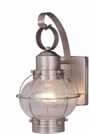 Vaxcel OW21861BN Chatham Nautical Brushed Nickel Finish 12 Tall Exterior Wall Sconce Lighting
