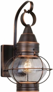 Vaxcel OW21881BBZ Chatham Nautical Burnished Bronze Finish 13.5 Tall Exterior Wall Light Sconce