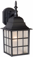 Vaxcel OW36763TB Vista Craftsman Textured Black Finish 6.75 Wide Outdoor Wall Sconce Lighting