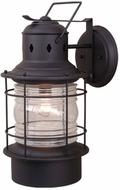 Vaxcel OW37001TB Hyannis Vintage Textured Black Finish 13  Wide Outdoor Lighting Wall Sconce