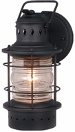 Vaxcel OW37051TB Hyannis Vintage Textured Black Finish 6.75  Wide Outdoor Wall Sconce Lighting