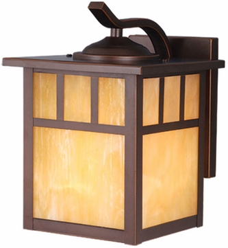 Vaxcel OW37273BBZ Mission Craftsman Burnished Bronze Finish 10.25 Tall Exterior Wall Sconce Light