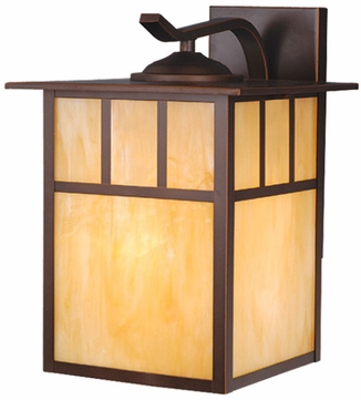 Vaxcel OW37293BBZ Mission Craftsman Burnished Bronze Finish 11 Wide Outdoor Wall Sconce