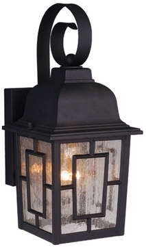 Vaxcel OW37563TB Vista Craftsman Textured Black Finish 13  Tall Exterior Lighting Sconce