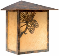 Vaxcel OW50518OA Whitebark Craftsman Olde World Patina Finish 5.25  Wide Outdoor Lighting Sconce