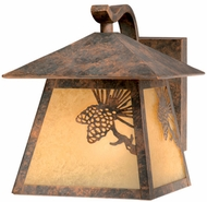 Vaxcel OW50573OA Whitebark Craftsman Olde World Patina Finish 8  Tall Exterior Lamp Sconce