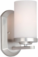 Vaxcel OX-VLU001BN Oxford Contemporary Brushed Nickel Finish 9.75  Tall Wall Light Fixture