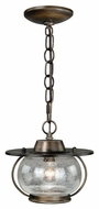 Vaxcel P0007 Jamestown Nautical Parisian Bronze Finish 7.5  Tall Halogen Mini Drop Ceiling Light Fixture