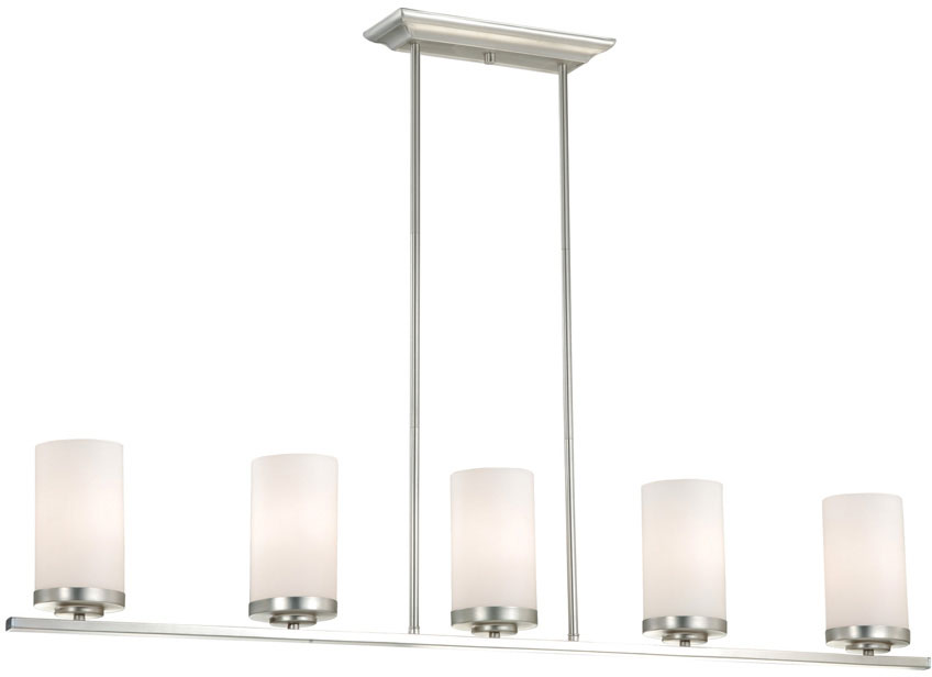 Charmant Vaxcel P0013 Oxford Contemporary Brushed Nickel Finish 7.75u0026nbsp; Tall Kitchen  Island Lighting. Loading Zoom