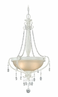 Vaxcel P0047 Bristol Antique Ivory Finish 18.5  Wide Drop Ceiling Lighting