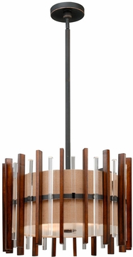 Vaxcel P0049 Mosel Modern Black Iron Finish 17.5  Tall Drop Lighting