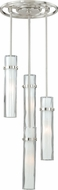 Vaxcel P0067 Vilo Contemporary Satin Nickel Finish 19  Tall Multi Pendant Lighting