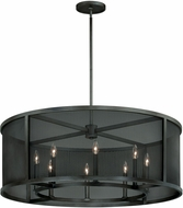 Vaxcel P0104 Wicker Park Warm Pewter Finish 21  Tall Drum Drop Ceiling Lighting