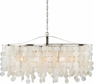 Vaxcel P0140 Elsa Satin Nickel Hanging Pendant Light