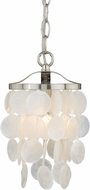 Vaxcel P0141 Elsa Satin Nickel Mini Pendant Hanging Light