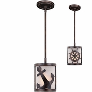 Vaxcel P0221 Nautique Sterling Bronze Mini Drop Ceiling Lighting