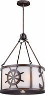 Vaxcel P0222 Nautique Sterling Bronze Drum Ceiling Light Pendant