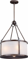 Vaxcel P0226 Lumos Sterling Bronze Drum Drop Ceiling Light Fixture