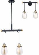 Vaxcel P0233 Kassidy Modern Black and Natural Brass Multi Hanging Light / Wall Light