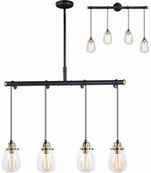 Vaxcel P0234 Kassidy Contemporary Black and Natural Brass Multi Pendant Light Fixture / Wall Lamp