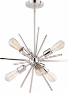 Vaxcel P0237 Estelle Modern Polished Nickel Mini Chandelier Lighting